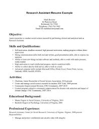 resume research scientist sample