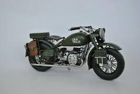1942 Military <b>Motorcycle</b> Model handmade <b>vintage metal</b> craft ...
