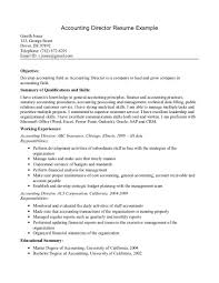 accountant resume objective examples shopgrat accounting director resume example summary of qualifications and skills accountant resume