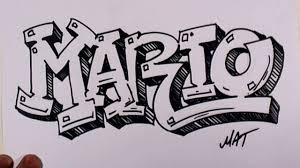 graffiti writing mario design in s promotion graffiti writing mario design 38 in 50 s promotion