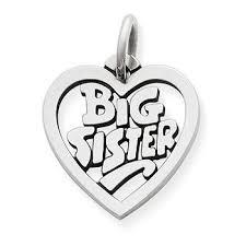 """<b>Big Sister</b>"" Heart Charm - James Avery"