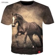 <b>YFFUSHI 2018</b> New <b>Male 3d</b> High Quality Tops Fashion Horse <b>3d</b> ...