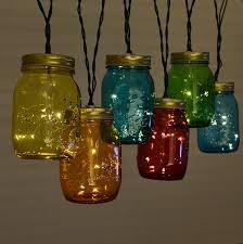 multi color mason jar string lights blue mason jar string lights