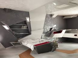 awesome grey white wood cool design futuristic bedroom amazing modern bookcase wood bed white mattres cushion bedroom contemporary furniture cool
