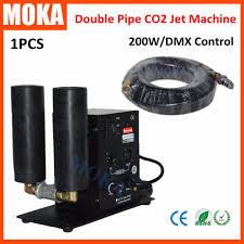 china stage effect double barreled co2 jet dmx machine for bar ktv dj wedding laser par cheap lighting effects