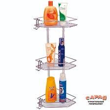 Купить <b>Полка</b> для ванной комнаты и кухни угловая тройная <b>Р 23</b> ...