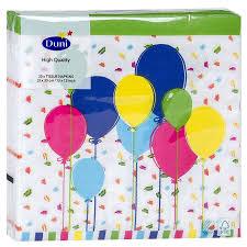 <b>Салфетки Duni Balloons and</b> Confetti 33х33 см 20 шт