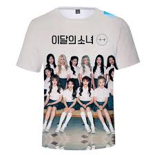 <b>Korean Style</b> KPOP LOONA 3D T Shirt <b>Women</b> Hip Hop Casual ...