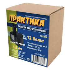 Купить <b>аккумулятор</b> Практика для ИНТЕРСКОЛ 12В, 1,5 Ач, NiCd ...