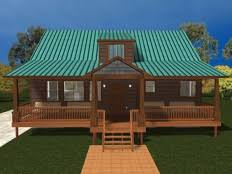 Cabin House Plans at Dream Home Source   Cabin Style House PlansDHSW