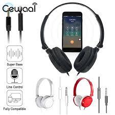 Cewaal Foldable <b>High</b> Sound Quality <b>3.5mm Wired</b> Head Wear ...