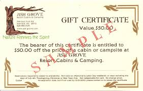 ash grove cabins and camping s blog the fine print for gift certificate use reservations required subject to availability valid for cabins or camping not valid on memorial labor day
