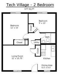 Bedroom House Plans Free   Two Bedroom   Floor Plans   Prestige    tiny house single floor plans bedrooms   Apartment Floor Plans   Tennessee Tech University