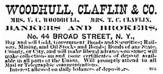 Image result for woodhull claflin & co