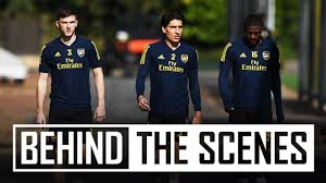 Arsenal prepare for opening Europa League match   Behind the ...