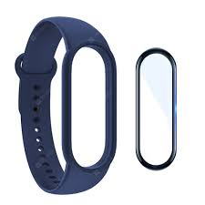 <b>Silicone Watchband</b> + <b>Screen</b> Protector Film for Xiaomi Mi Band 5 ...