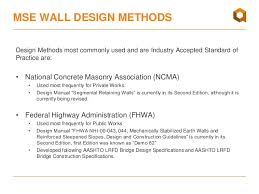 Small Picture MSE Walls Geosynthetics Design Basics Webinar April 2016