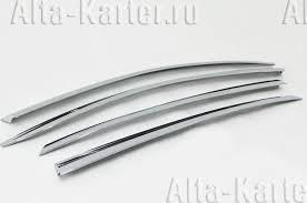 <b>Дефлекторы</b> (<b>хромированный</b> пластик) для окон <b>Opel</b> Antara I ...