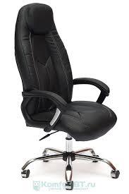Купить Офисное <b>кресло TetChair Boss хром</b>, черный/черный 36-6 ...