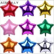 <b>50pcs</b>/<b>lot 5inch</b> Mini Foil Star Balloon Birthday New Year Party ...