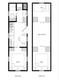Tiny House Floor Plans   Lower Level Beds   Tiny House DesignTiny House Floor Plans   Lower Level Beds  x