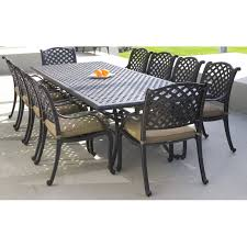 11 Piece Dining Room Set Cast Aluminium 11 Piece Dining Setting Table Includes Umbrella
