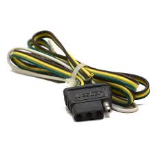 boat trailer lights reflectors wiring harnesses great lakes mastercraft 653500 wesbar 4 foot 4 prong female boat trunk connector harness