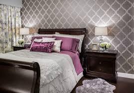 room elegant wallpaper bedroom: modern designer wallpaper bedroom transitional with area rug drapes elegant