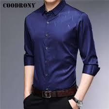 <b>COODRONY</b> Men Shirt Streetwear Fashion Pattern <b>Long Sleeve</b> ...