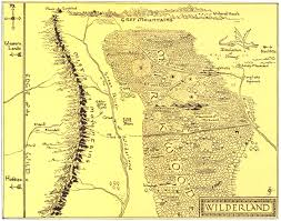 map of the wilderland j r r tolkien