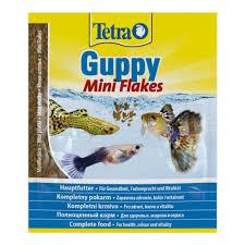 <b>Корм</b> для гуппи <b>Tetra Guppy</b> Mini Flakes 12г хлопья — купить в ...