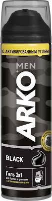 <b>Arko Men Гель</b> 2в1 для бритья и для умывания Black, 200 мл ...