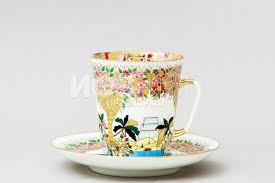 <b>Чашка с блюдцем</b> кофейная ф. Майская рис. Весенние <b>деревья</b> ...