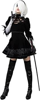 Cosfun Game Yorha 2B Cosplay Costume Full Set ... - Amazon.com