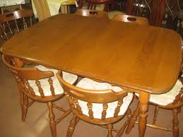 1950s Dining Room Furniture Sold Mid Century Rockport Maple Dining Table And Chairs Photo