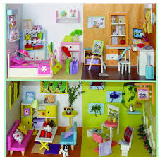 2016 new miniature dollhouse furniture 3d diy dollhouse kit toy for kid39s building doll furniture