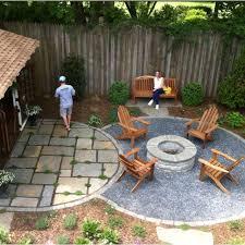 patio pinterest flagstone gravel