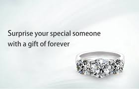 <b>DovEggs</b> Classic simplicity 3 Stone Engagement Ring for Women ...