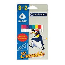 """<b>Фломастеры CENTROPEN</b> """"Erasable"""", 8 цветов +2 стирающих ..."""
