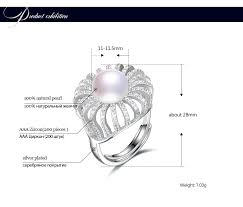 HENGSHENG <b>100</b>% <b>Genuine Natural Pearl</b> Elegent Women Ring ...