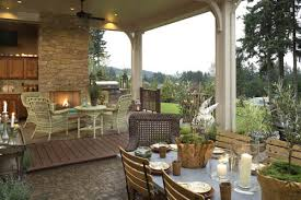 House Plans   Great Outdoor Living Spaces   DFD House PlansWith an outdoor kitchen and plenty of space for seating  House Plan is a dream home for a serious summertime host