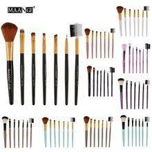 esorem 7pcs angled handle makeup brushes set professional eyeshadow brush tapered blending face brochas maquillaje ct122