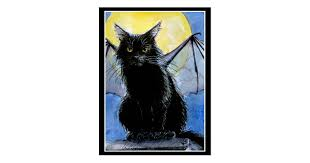 <b>Halloween</b> black cat gargoyle postcard | Zazzle.com