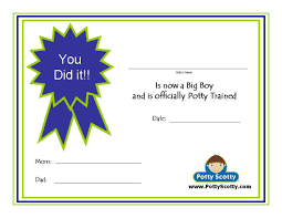 potty training resources potty training concepts potty scotty potty training certificate i
