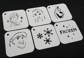 Set of <b>6pcs Frozen</b> Style Stencils Olaf Elsa Anna Snowflakes Kristoff ...