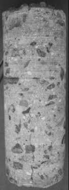 6. Core showing crack initiation at the surface of the <b>slab</b> ...