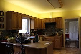 led indirect lighting above kitchen cabinet lighting