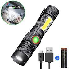 <b>LED</b> Rechargebale Flashlight, Magnetic Zoomable <b>COB</b> Work Light ...