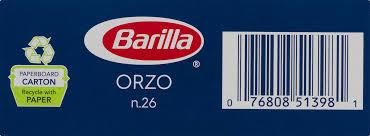 barilla pasta orzo lb com