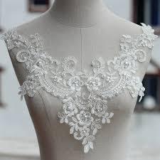 <b>ivory</b> high quallity handmade Alencon <b>Lace Appliques</b> Floral ...